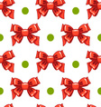 Seamless pattern cute cartoon bows-3 vector image vector image