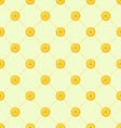 Seamless Simple Pattern with Golden Coins for St vector image