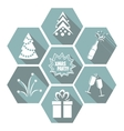 Set of flat simple Christmas elements vector image
