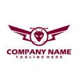 shield wing logo blackk and gold wing logo luxury vector image vector image