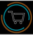 shopping cart - commercial vector image vector image