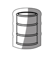 silhouette sticker metallic barrel icon design vector image