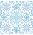 Snowflakes lace symmetry seamless pattern vector image vector image