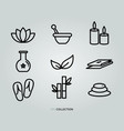 spa and wellness icon set vector image vector image