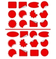 Sticker label set Red sticky isolated on white vector image vector image