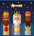 three kings of orient wise men vector image vector image