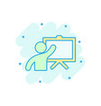 training education icon in comic style people vector image