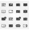 TV repair or service icons set vector image vector image