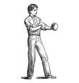 Vintage Boxer Sketch vector image vector image