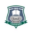 Vintage heraldic badge for university design vector image vector image