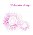 watercolor floral background vector image vector image