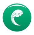 wave water ocean icon green vector image