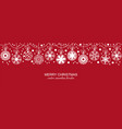 white seamless snowflake border red background vector image vector image