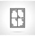 Window panes black line icon vector image vector image