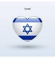 Love Israel symbol Heart flag icon vector image