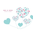 abstract colorful drops heart symbol frame vector image vector image
