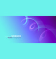 abstract digital wave particles background big vector image