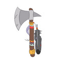 an ax indian drawing color vector image