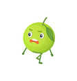 apple cute cartoon fruit with vector image