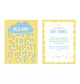Baby shower invitation template design vector image