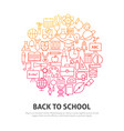 back to school circle concept vector image vector image