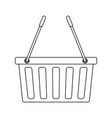 basket shopping empty market commerce business vector image vector image