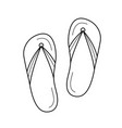 beach slippers line icon vector image vector image