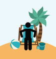 beach vacations vector image vector image