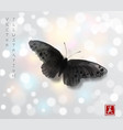 big black butterfly hand drawn with ink vector image vector image