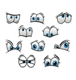 Big blue eyes in cartoon or comic style vector image vector image