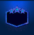 blue shining retro light banner vector image vector image