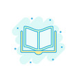book education icon in comic style literature vector image vector image