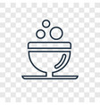 bowl concept linear icon isolated on transparent vector image