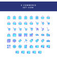 business e-commerce shopping and finance filled vector image vector image