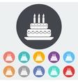 Cake icon vector image vector image