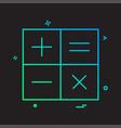 calculator math icon design vector image