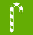 candy cane icon green vector image vector image