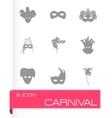 carnival icons set vector image