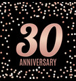 celebrating 30 anniversary emblem template design vector image vector image