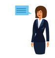 ceo owner woman cartoon flat vector image