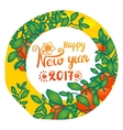 Chinese New Year 2017 card vector image vector image