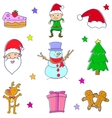 Christmas doodle set art vector image vector image