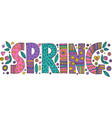 colorful spring lettering vector image