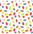 colorful stylized cacao pods in candy colors vector image vector image