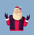 cool rock and roll santa claus cartoon vector image vector image