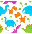 dinosaur pattern vector image vector image