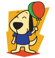 Dog and Ballon vector image