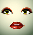 Emotional expression on the face of a cute girl vector image vector image