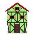family european house vector image