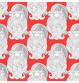 Fancy Santa red seamless vector image